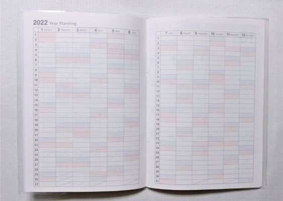 キャンドゥスケジュール帳A5年間一覧